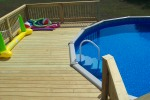Multilevel Deck Around Pool