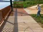 deck staining, large deck, Knoxville deck