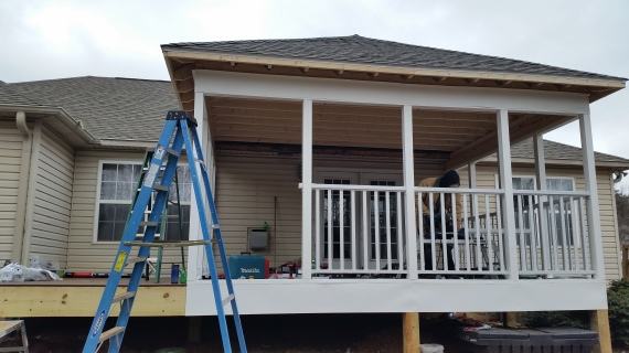 Knoxville Screened room, trex deck, composite deck